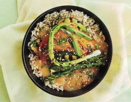 Rice bowl and raw apple pie recipes